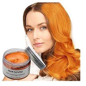 Orange Temporary Hair Dye Wax Mud